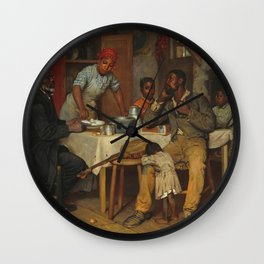 A Pastoral Visit, by Richard Norris Brooke, 1881 . An African American family Wall Clock