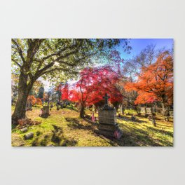 Sleepy Hollow Cemetery New York Canvas Print