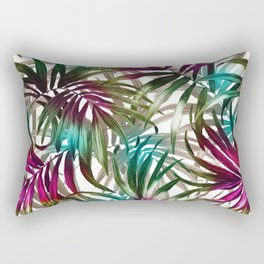 Tropical Leaf Pattern Rectangular Pillow