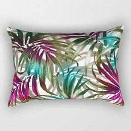 Tropical Leaf Pattern Rectangular Pillow