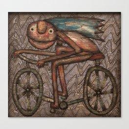 The Biker Canvas Print