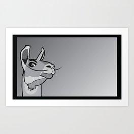 Dalí Llama Art Print