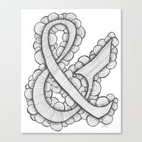 ampersand Canvas Prints featuring Ampersand by Laura Maxwell