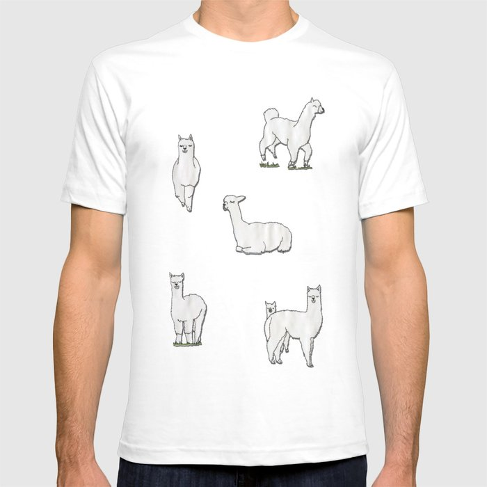 alpaca t shirt by okayleigh society6. Black Bedroom Furniture Sets. Home Design Ideas