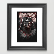 When there's no more room in Hell....Vader. Framed Art Print