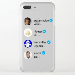 Why do legends die Clear iPhone Case
