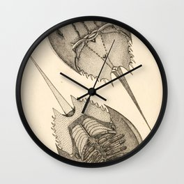 Horseshoe Crabs Wall Clock