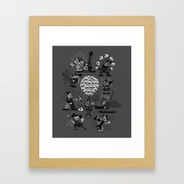 Horror Clowns Framed Art Print