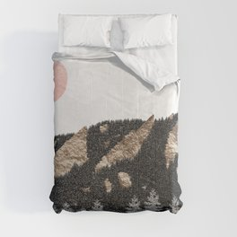 Flatirons Boulder Colorado - Climbing Gold Mountains Comforters