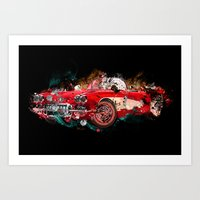 cars Art Prints featuring cars  by mark ashkenazi