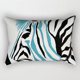punk rock zebra Rectangular Pillow