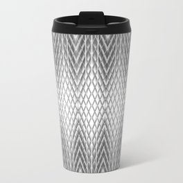 Cool Silver Grey Frosted Geometric Design Travel Mug
