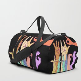 Wild Thing Hand Alphabet Illustration Duffle Bag
