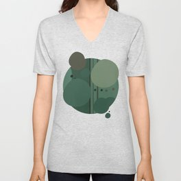 """The Girl and the Moon (Pattern 02)"" Unisex V-Neck"