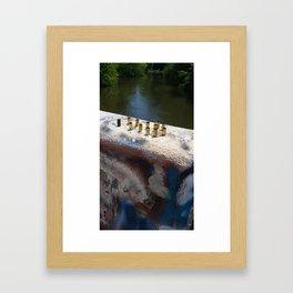 Empty bullet shells Framed Art Print