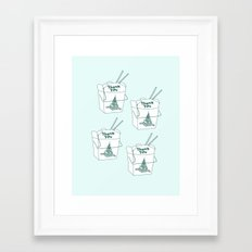 TAKEOUT Framed Art Print