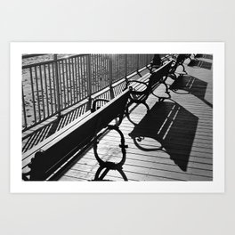 Beachy Benches Art Print