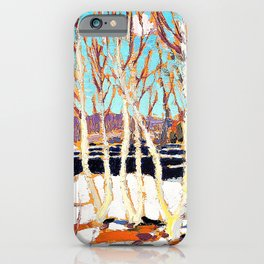 12,000pixel-500dpi - Tom Thomson - April in Algonquin Park - Digital Remastered Edition iPhone Case