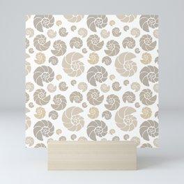 Sea shells pattern pastels #1 Mini Art Print
