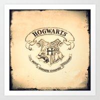 "hogwarts Art Prints featuring HOGWARTS by ""CVogiatzi."