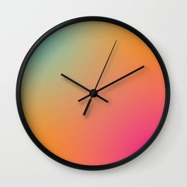 Running with Peaches Wall Clock