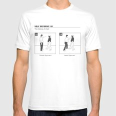 The Distrac-a-Attack White Mens Fitted Tee MEDIUM