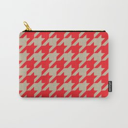 Houndstooth (Brown and Red) Carry-All Pouch