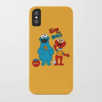 elmo iPhone & iPod Cases featuring Elmo & Cookie Fan Art by gabriela