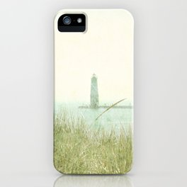 Two Boats and a Lighthouse iPhone Case