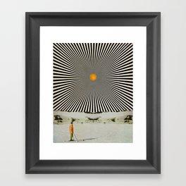 Solar butterfly Framed Art Print