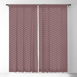 Pantone Red Pear Scallop, Wave Pattern Blackout Curtain