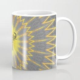Yellow Grey Elephant Mandala Coffee Mug