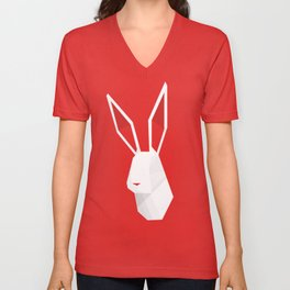 Geometric Rabbit Unisex V-Neck