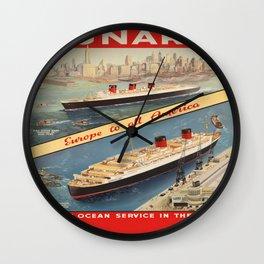 Vintage poster - Cunard Wall Clock