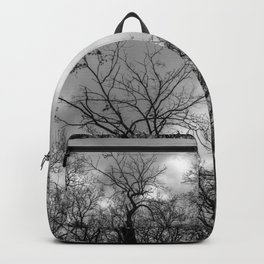 Witchy black and white tree Backpack
