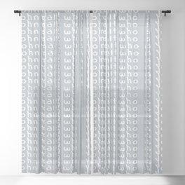 who is John Galt? Sheer Curtain