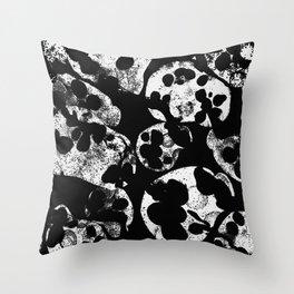 white sculls tumbling Throw Pillow