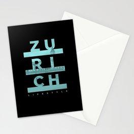 Zurich City Lifestyle Urban Design Stationery Cards