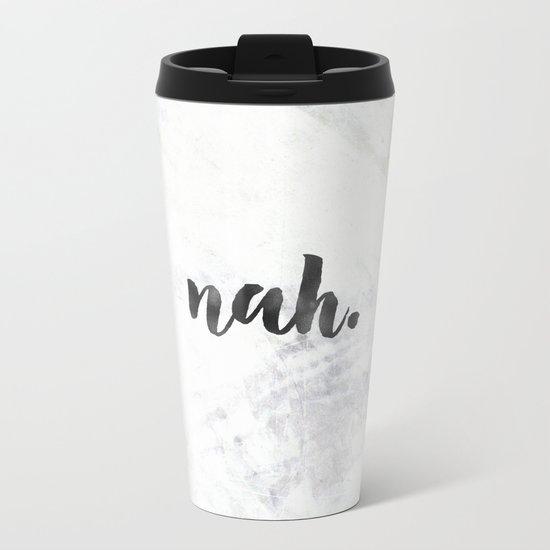 NAH Marble Quote Metal Travel Mug