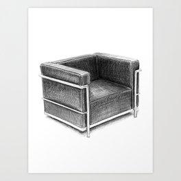 Corbusier Chair Art Print