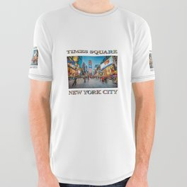 Times Square Sparkle (with typography) All Over Graphic Tee