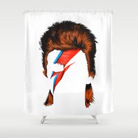 david fleck Shower Curtains featuring David by BomDesignz