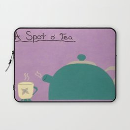 A Spot of Tea Laptop Sleeve