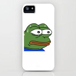 MonkaS FeelsBadMan iPhone Case