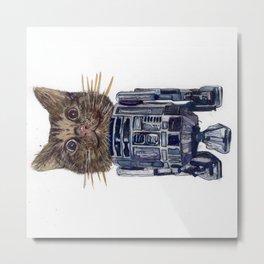 Cat2D2 Metal Print