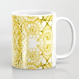 Yellow Zentangle Tile Doodle Design Coffee Mug