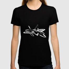 Black And White Jet - Cool Jetplane T-shirt