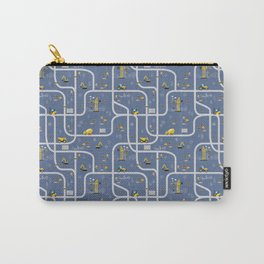 Under Construction Digger Vehicles Blue Pattern Carry-All Pouch