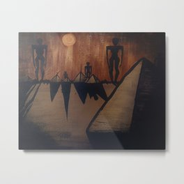 Otherworldly Invasion Acrylic Painting Metal Print