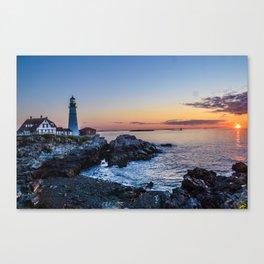 Portland lighthouse Canvas Print